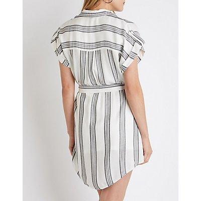 Plaid Button Up Shirt Dress