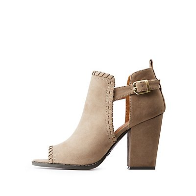 Cut-Out Peep Toe Sandals