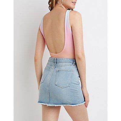 Ombre Scoop Back Bodysuit