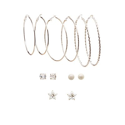Stud & Hoop Set - 6 Pack