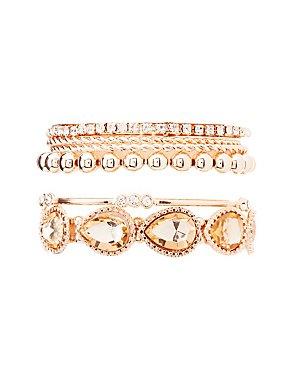 Embellished Stretch & Bangle Bracelets - 6 Pack