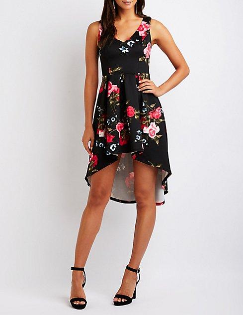278afeecf9 ... Floral High Low Maxi Dress