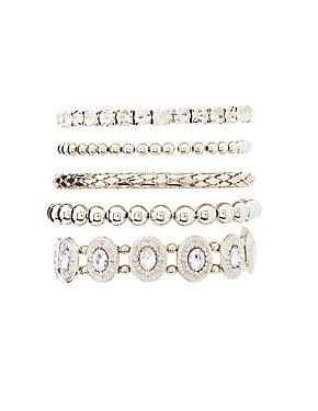 Stone & Beaded Stackable Bracelets