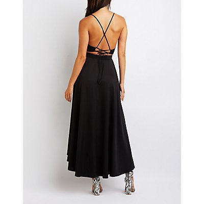 High Low Wrap Maxi Dress
