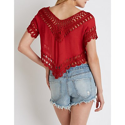 Crochet V-Neck Top