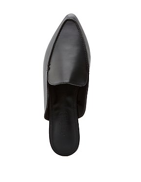 Pointed Toe Mule Loafers