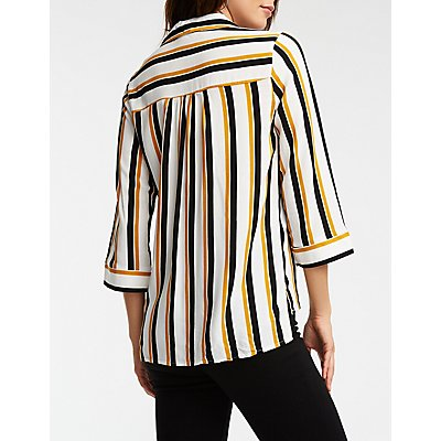 Striped Popover Woven Shirt