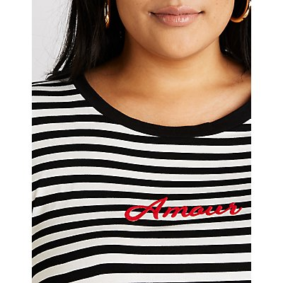 Plus Size Amour Striped Tee