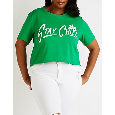 Plus Size Stay Chill Graphic Tee