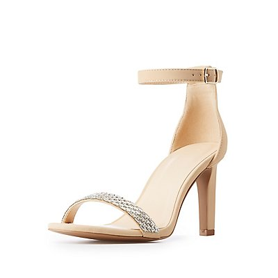Crystal Ankle Strap Sandals