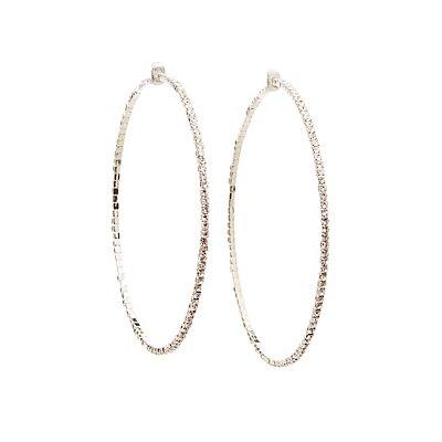 Crystal Hoop Earrings
