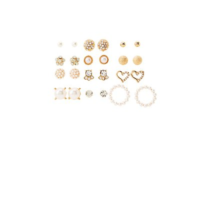 Assorted Stud Earrings - 12 Pack