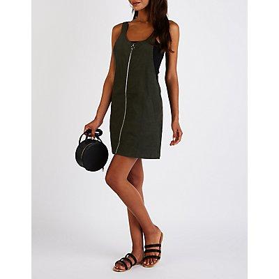 Zip Up Overall Shift Dress