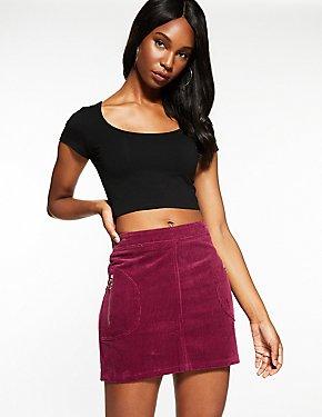 Corduroy A Line Skirt