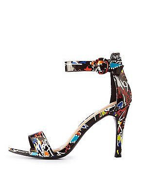 Graffiti Two Strap Sandals