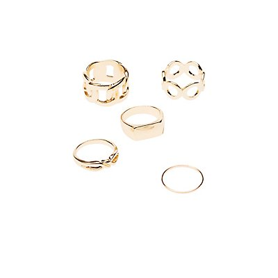 Chainlink Stacking Rings - 5 Pack