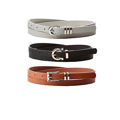 Horseshoe Skinny Belts - 3 Pack