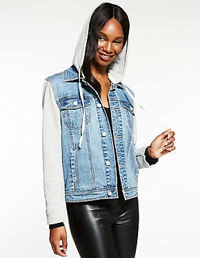 Refuge Hooded Denim Jacket