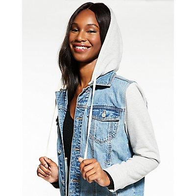 Refuge Hooded Denim Jacket
