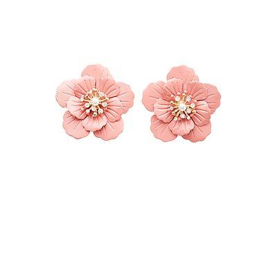 Oversized Floral Stud Earrings