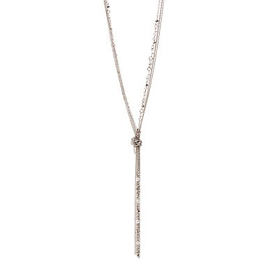 Faux Pearl Knotted Necklace