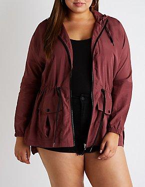 6f4ba71101b Plus Size Hooded Anorak Jacket