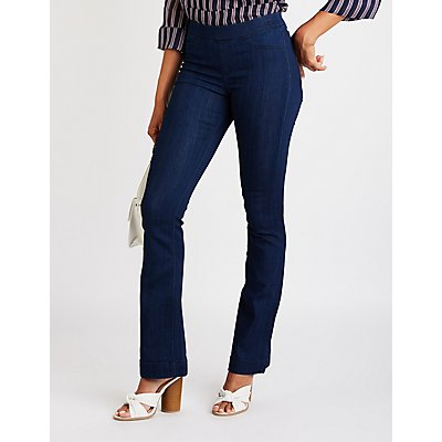 Cello Mid Rise Boot Cut Jeans