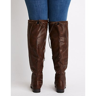 Wide Width Over The Knee Riding Boots