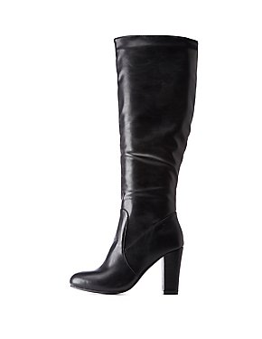 Almond Toe Calf Boots