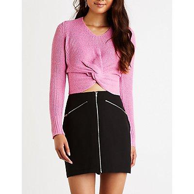 Zip Up A Line Skirt
