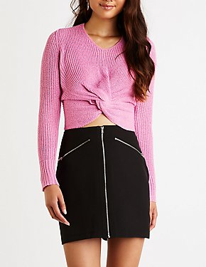 Zip Up A Line Skirt