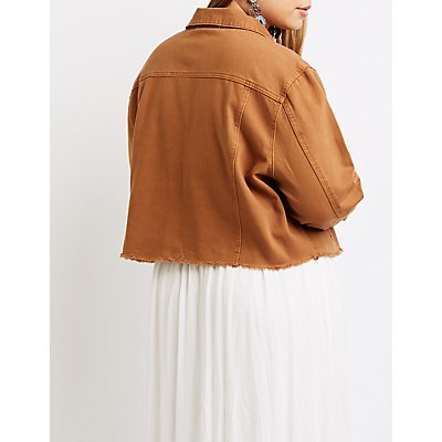 Plus Size Refuge Cropped Denim Jacket