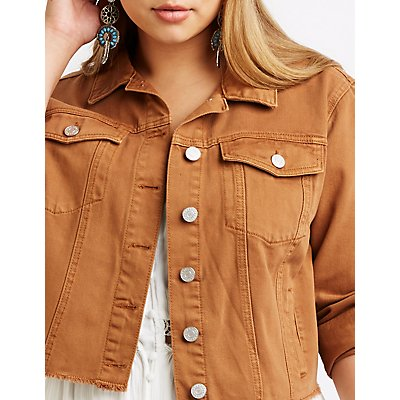 Plus Size Refuge Cropped Denim Jacket