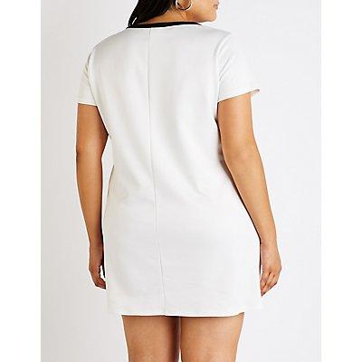Plus Size Vibes Shirt Dress