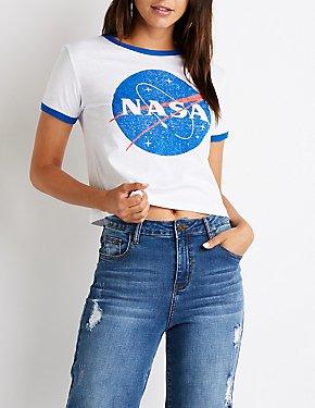 NASA Graphic Ringer Tee