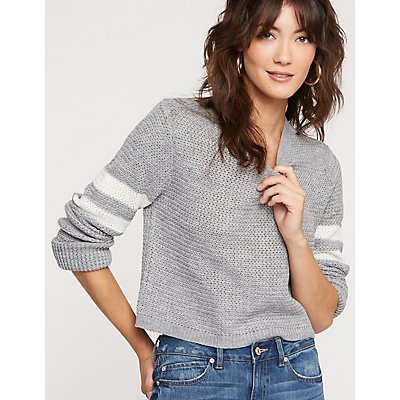 V-Neck Pullover Sweater