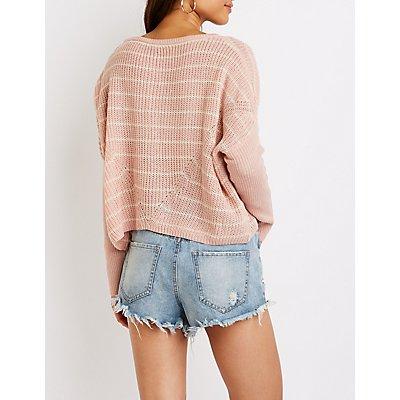 Stripe Pull Over Sweater