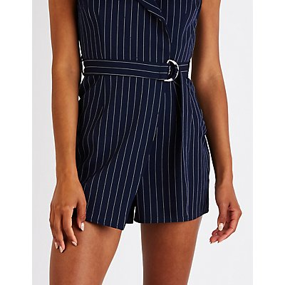 Striped Menswear Romper