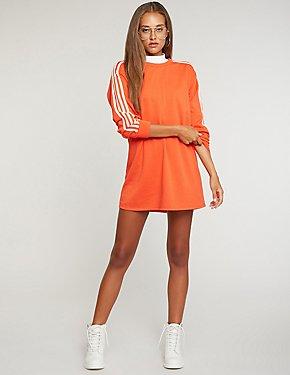 Side Striped Sweatshirt Dress