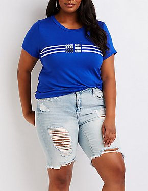 Plus Size Good Girl Graphic Tee