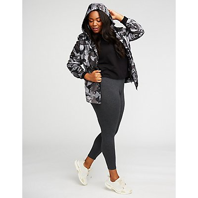 Plus Size Lightweight Camo Jacket