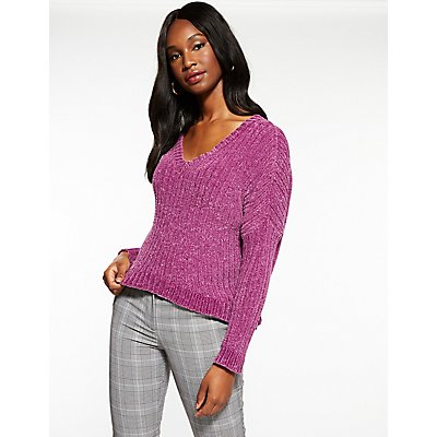V Neck Hi Low Sweater