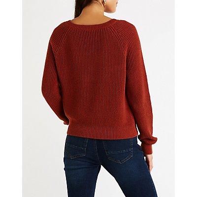 Suéter con cuello en V