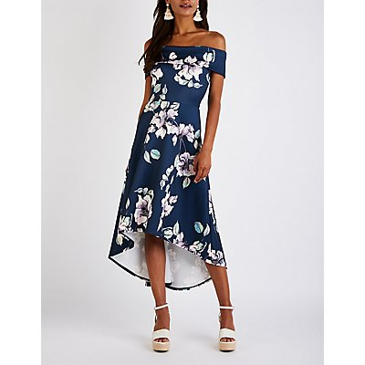 Floral Hi Low Maxi Dress