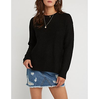 Side Zipper Pullover Sweater