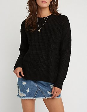 Side Zipper Pullover Sweater