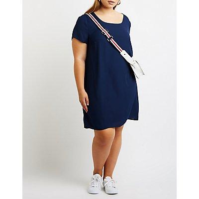Plus Size Caged Shift Dress