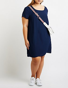 Plus Size Caged Shift Dress