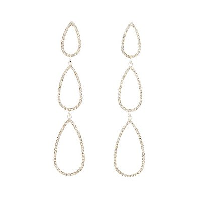 Crystal Tiered Teardrop Earrings