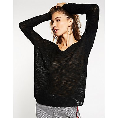 Bar Back V-Neck Sweater
